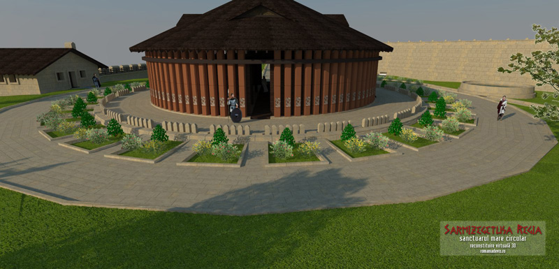 Reconstructie 3D – Templul Circular de la Sarmizegetusa