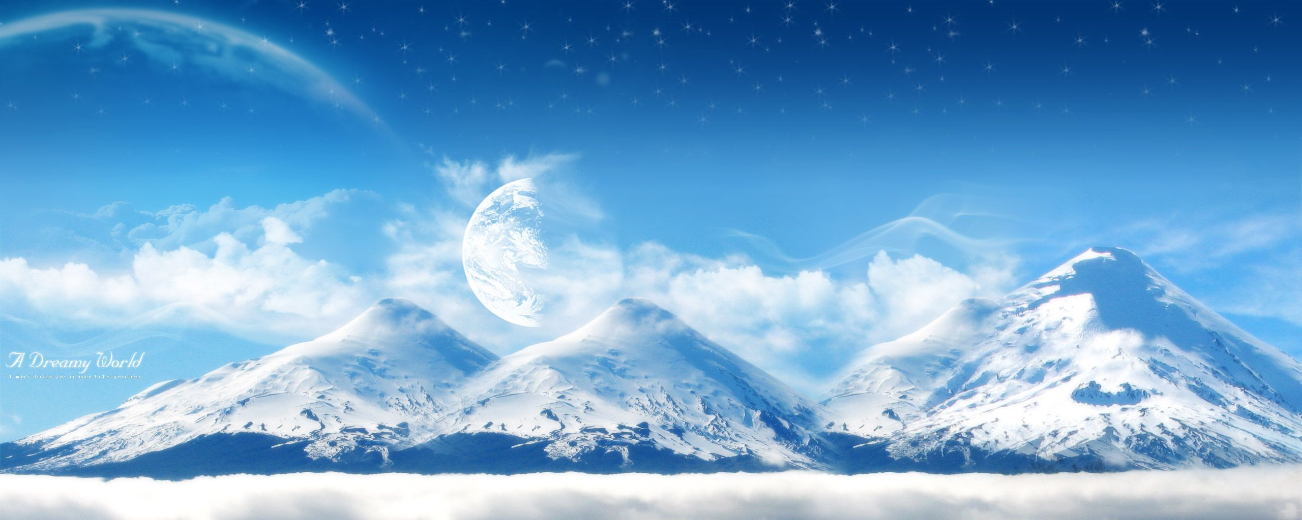 Dual-Screen-A-Dreamy-World-Snowy-Mountain-2560x1024